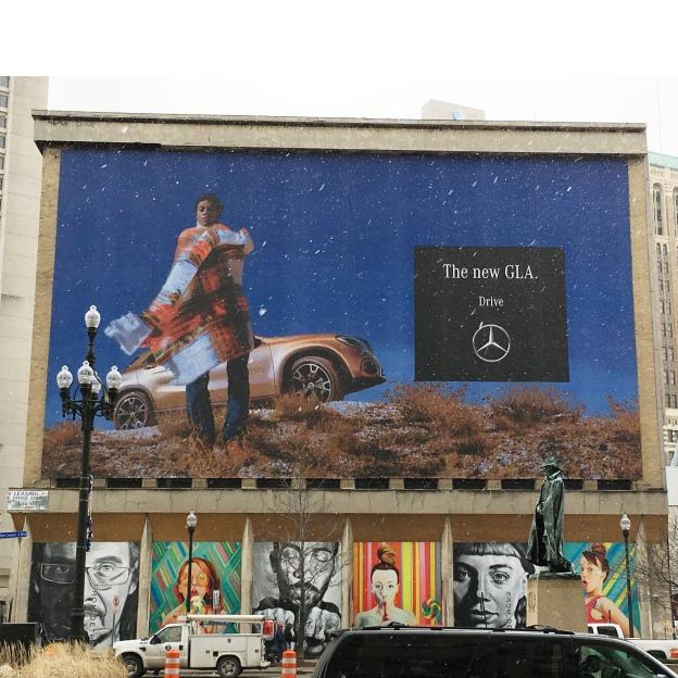 Mercedes billboard